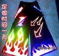 NUEVO 2016 Raver mineral Techno Hardstyle Pantalones Melbourne Shuffle DJ PHAT Pantalones Tanz Manguera Fluoreszierend Fuego Reflectante Pantalones NUEVA