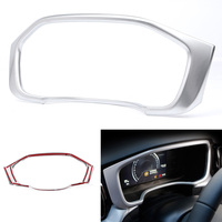 Silver ABS Interior Dashboard Display Frame Cover Trim For Volvo XC60 2018 2019