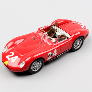 1/43 Small Scale LEO Tipo 200S 200SI vintage Sports racing cars NO.24 metal auto vehicle metal diecast models toys for boys red image