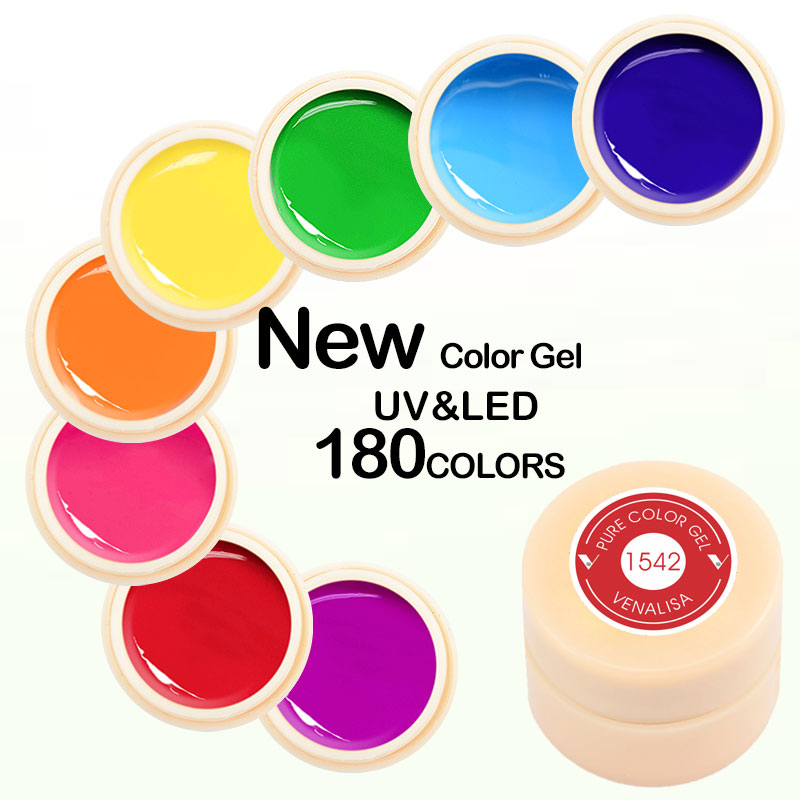 Nail Gel Color Gel Paint Uv Nail Gel Soak Off Nail Art Led Nail Lacquer 180 Colors Glitter Nail Rainbow Painting Gel Aesthetic Appearance