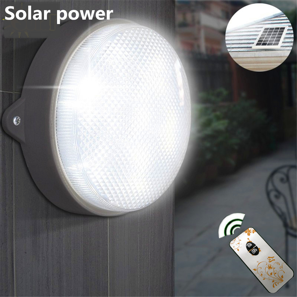 Solar Lights Garden Wall Lamps Solar Powered 9 LED Ceiling Lighting Outdoor Solar Street Light with IR Remote Control high brightness 5w 80led control solar led lamps automatic light control lighting solar lights for garden decoration wholesale