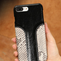 LANGSIDI Phone Case Snake Skin Fight Wax Leather Back Cover Case For Iphone 8 Mobile Phone