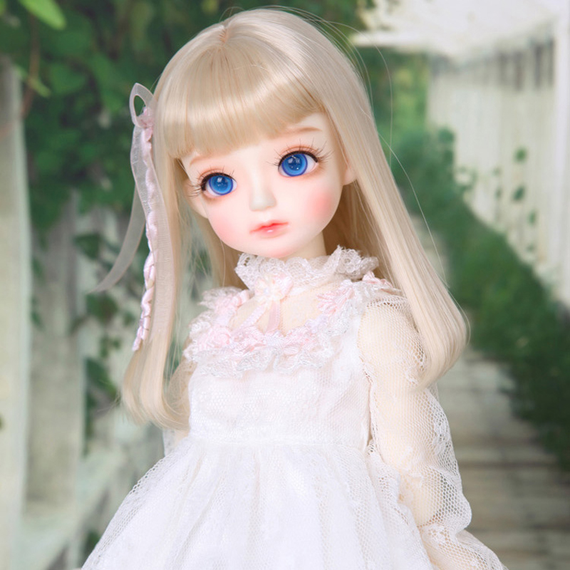 Top Quality 1/4 BJD Doll SD Fashion Lovely Kid Delf Head Reborn Joint Model Doll With Makeup For Baby Girl Gift kid delf girl bory bjd doll 1 4 luts baby girl sd doll free eyes