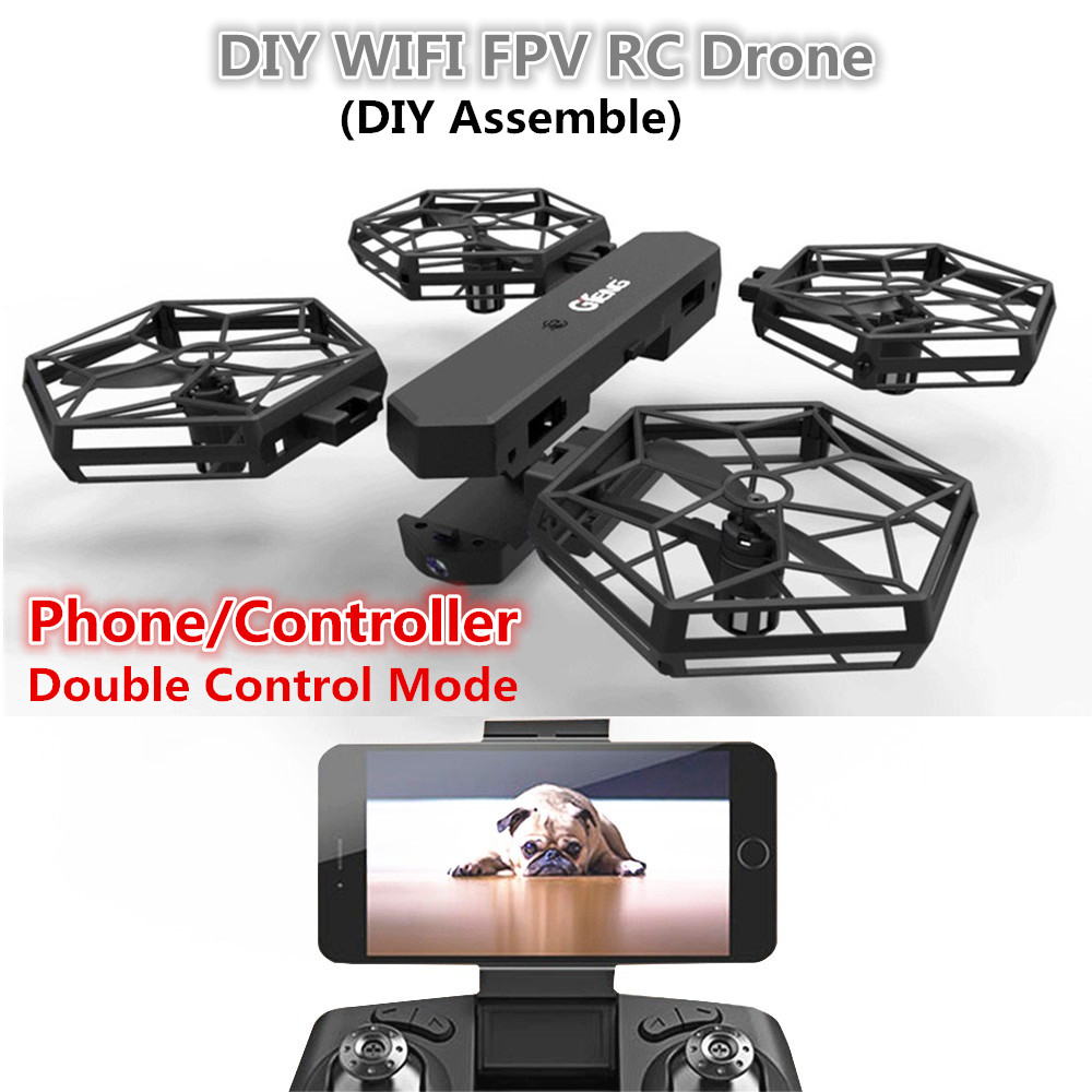 Hot creative RC drone toy T908W 2.4G Anti fall DIY assembly modularity WIFI FPV real time remote control helicopter quadcopter yizhan i8h 4axis professiona rc drone wifi fpv hd camera video remote control toys quadcopter helicopter aircraft plane toy