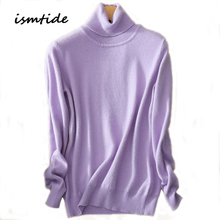 Womens Kint Sweaters 100% Cashmere Blouse Turtleneck Winter Tops Solid Elastic Slim Sexy Casual Coats Female Knitted Sweater