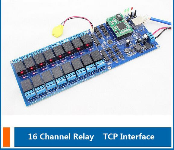 ФОТО Network Switch Industrial Network 16 Channel TCP Relay,Remote Control Switch,16 Channel Relays Output with timing function