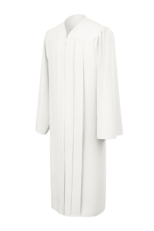 matte-white-bachelor-graduation-gown_Be.fore