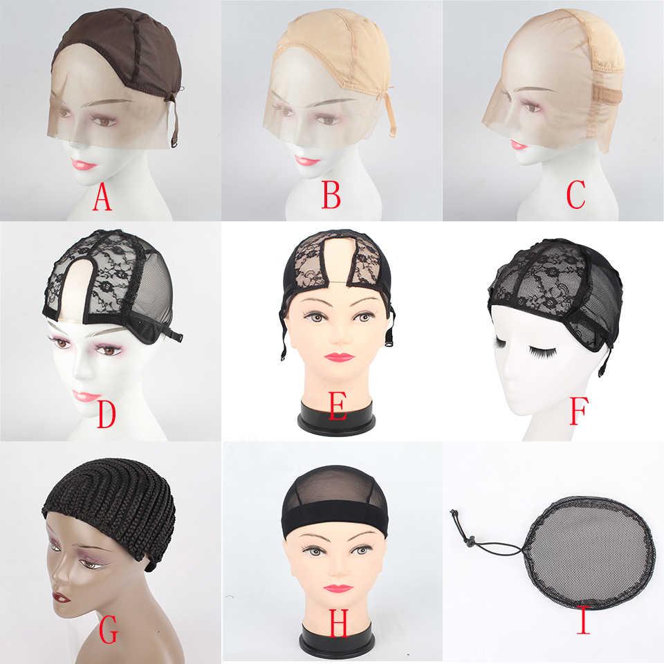 Xtrend koronkowa czapka z peruką do wyrobu peruk z regulowanym paskiem z tyłu czapka do tkania glueless czepek na perukę siatka do włosów hairnets 9 rodzajów