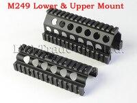 Aluminum CNC M249 Lower And Upper Scope Mount Handguard 6pcs RIS Rails System Hunting Shooting Tactical