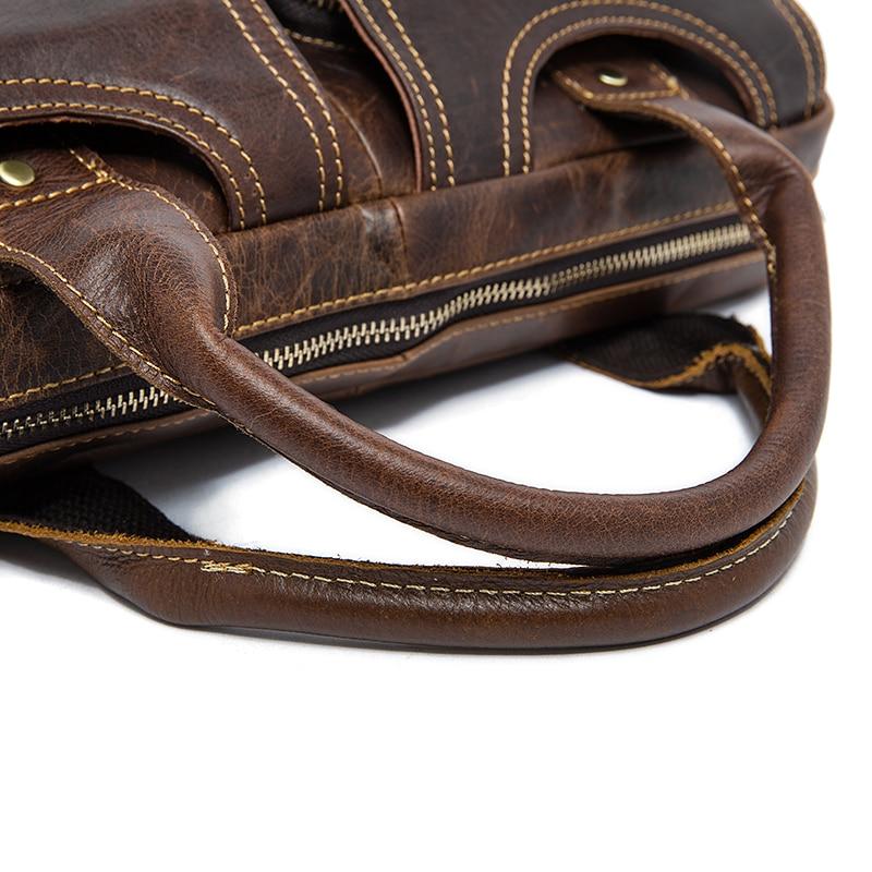 MVA men s bag briefcase leather office laptop bag for men s genuine leather bag business MVA men's bag/briefcase leather office/laptop bag for men's genuine leather bag business document man briefcase handbag 8002-1