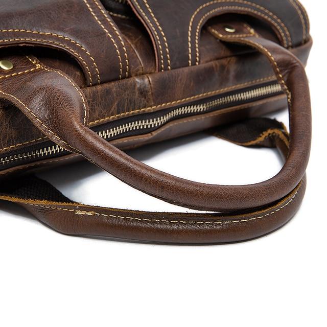 MVA sac pour hommes/porte-documents en cuir bureau/pochette dordinateur pour hommes en cuir véritable sac document daffaires homme porte-documents sac à main 8002-1