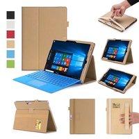 Nieuwe Luxe Pu Case Voor Microsoft Surface Pro 4 Flip Stand Cover Smart Case Voor Oppervlak Pro4 12.3