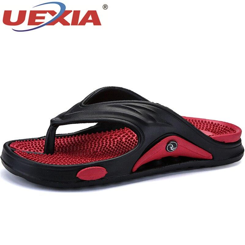 UEXIA Summer Walking Men Casual Sandals Leisure Soft Slides Eva Massage Beach Slippers Flats Water Shoes Men's Sandals Flip Flop