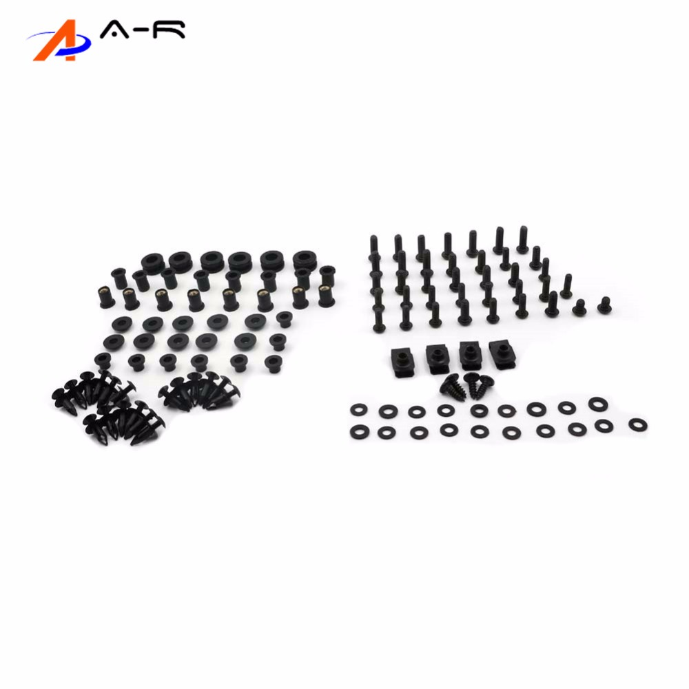 07 08 Ninja ZX6R Complete Body Fairing Bolts Nuts Fastener