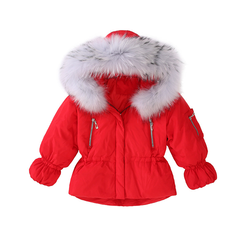 2018 New Winter Girls Duck Down Jacket Fashion Kids Warm Thick Fur Collar Hooded Outerwear Coats For Teenage 6 8 10 12 14 Years 2018 new winter coats for girls jacket hooded kids outerwear thick warm children down long jackets for girls coat 10 12 14 years