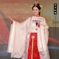 Princess Period Sun Li 2015 Newest TV Play Legend of Mi Yue Ancient Qin Empress Xuan Gorgeous Stage Costume Actual Product Pic