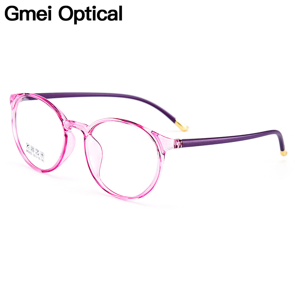 Gmei Optical Ultralight TR90 Women Optical Glasses Frames Round Optic Glasses Frame For Women Myopia Spectacles Oculos M5002