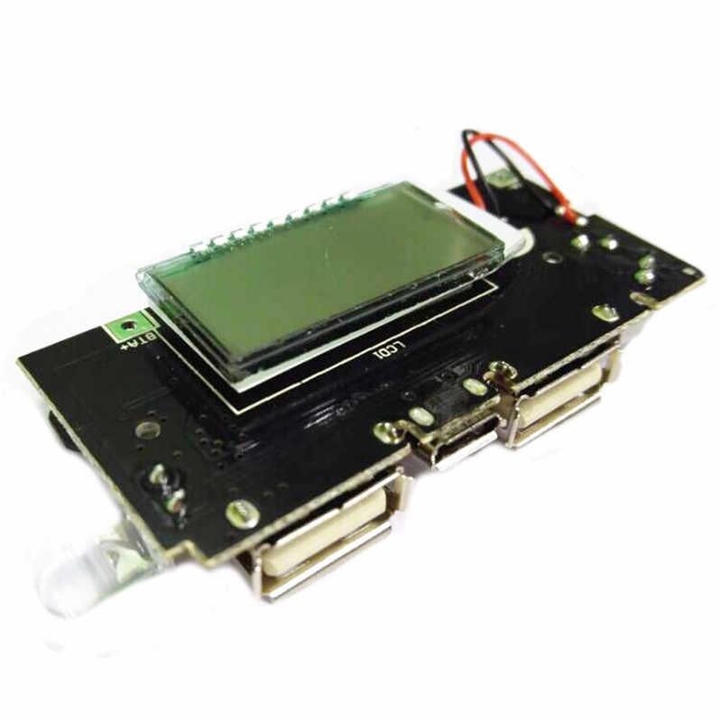 新しい到着3ピースデュアルusb 5ボルト1a 2.1aモバイル電源銀行18650バッテリー充電器pcbパワーモジュール用diy