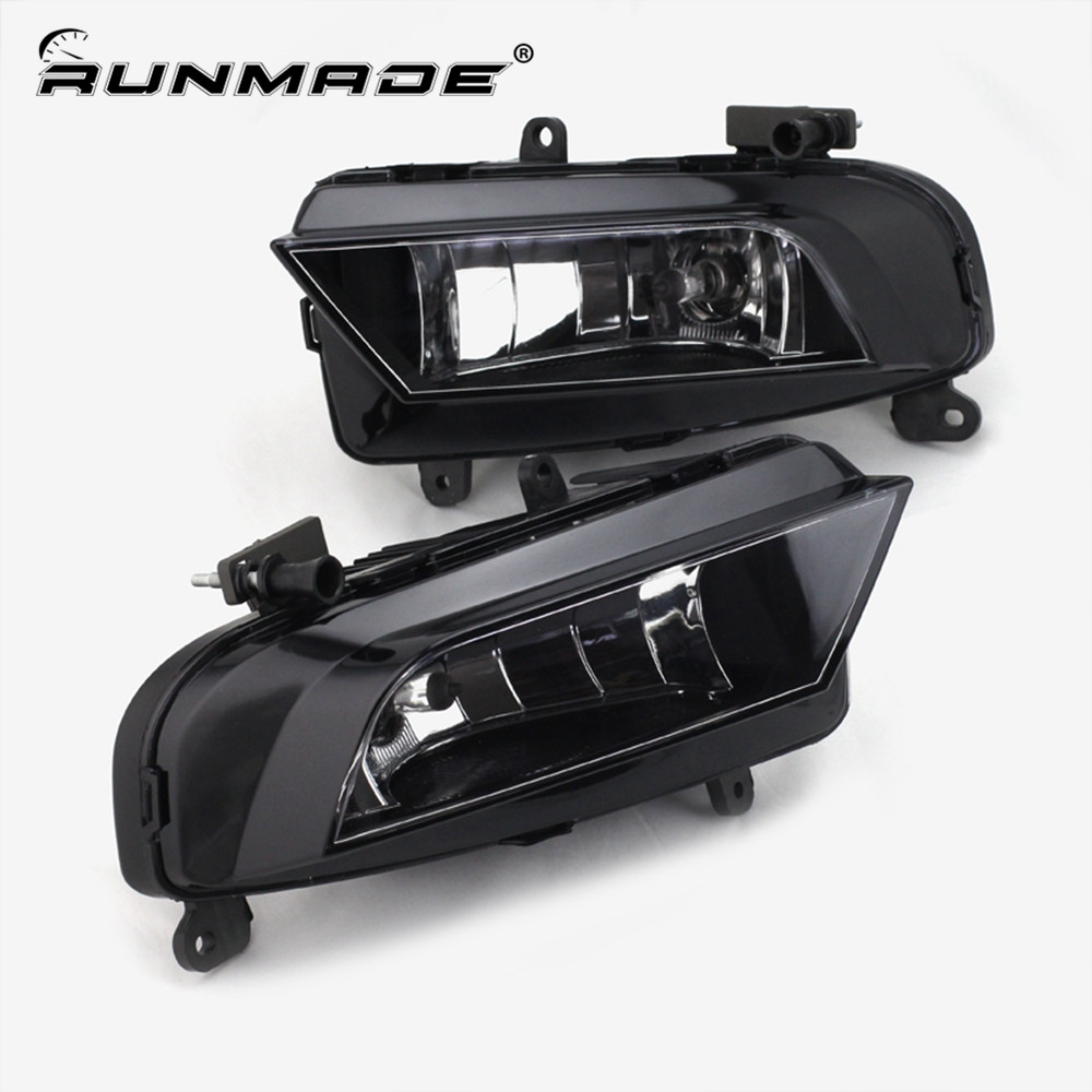 runmade One Pair Fog Light For 2012+ Audi A4 B9 Front Lower Driving Fog Light Left & Right Side With H8 35W 12V Bulbs стоимость