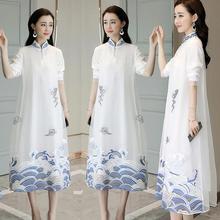 Shanghai Story Modern Qipao Faux Silk traditional dress Chinese Oriental Womens Clothing retro Cheongsam Long