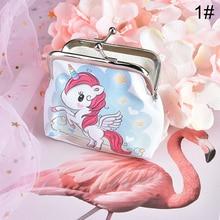 Hot Sale 1PC Cartoon Pattern Women Unicorn Flamingo Coin Purse Cute Lovely Small Bag