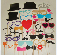 Wholesale 100set/lot 44 Different Style Included Cute DIY Photo Props Party Decoration Accept Customized Order
