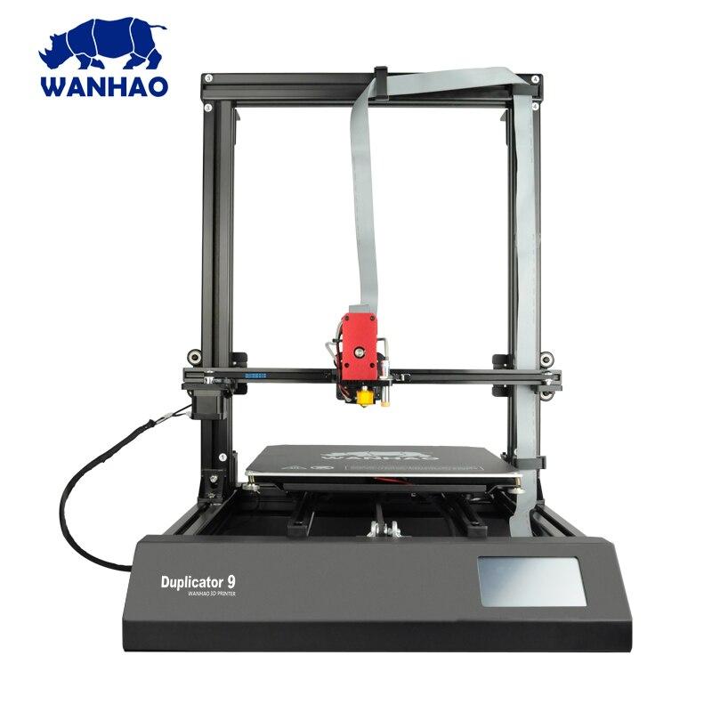 цена на 2018 New 400*400*400mm Big Size D9 WANHAO factory desktop 3D printer , Wanhao Duplicator 9 MKI FDM / FFF large format 3D printer