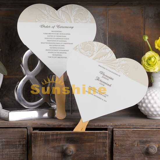 Luxury wedding invitations program fans antique design heart luxury wedding invitations program fans antique design heart christening baptism invitations and program birthday party stopboris Choice Image