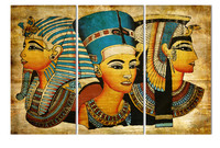 HD Printed 3 Pieces Pharaoh Of Ancient Egypt Wall Art Pictures Canvas Painting For Living Room
