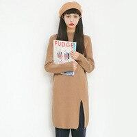 2017 Autumn New Sweater Korean Elasticity Was Thin Round Collar Slim Shirt Female A385