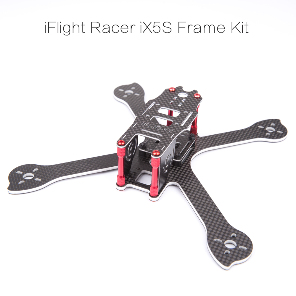 iFlight iX5S 200mm composite material True X Frame compatible 5045 Prop/Foxeer HS1190 /emax rs2205 2306 motor for FPV racing original diatone gt200n fpv normal x racing frame kit carbon fiber supports 2306 motor hs1177 5 inch prop 200mm width
