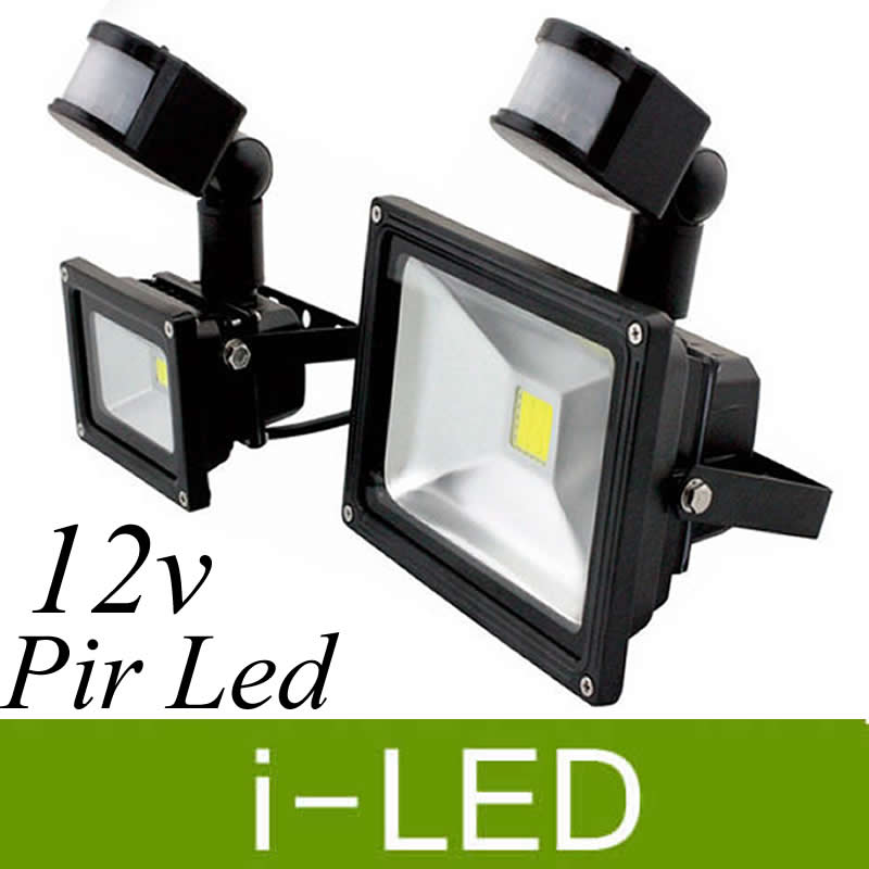 Pir Infrared Motion Sensor Led Floodlight Outdoor Spotlight Lamp 10w 20w 30w Waterproof Ip65 Led Flood Light For Garden Ac/dc12v Neither Too Hard Nor Too Soft Lights & Lighting