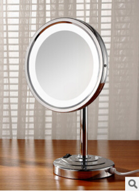 Bathroom desktop 8 inch Brass 3X Times Magnifying Mirror LED Mirror Dressing-up Mirror Makeup Mirror Cosmetic Mirror Lady Gift free shipping 9wall mounted round 3x 1x magnifying bathroom mirror led makeup cosmetic mirror lady s private mirror bm003