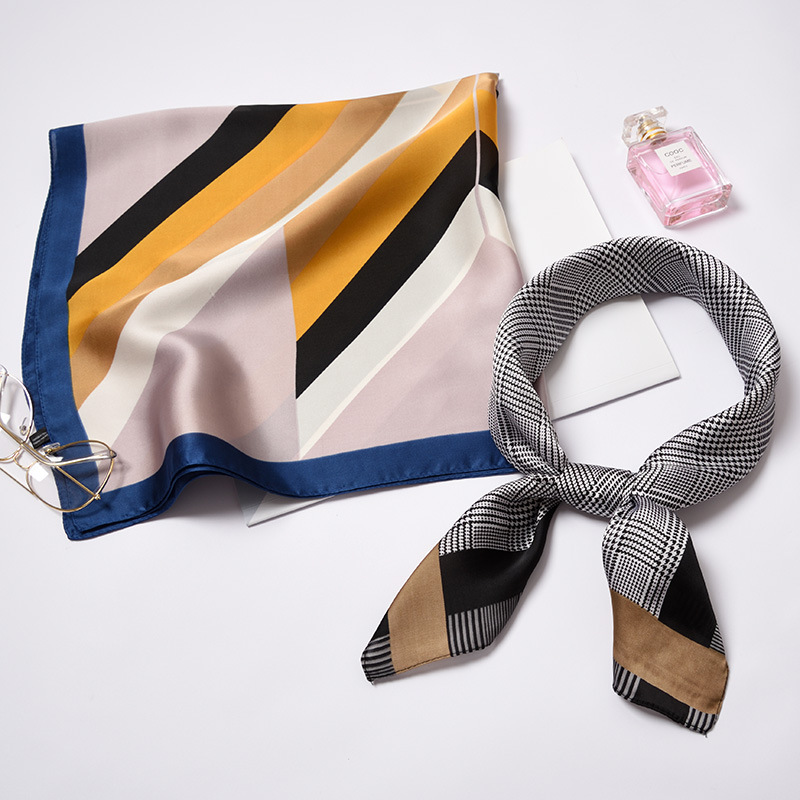 70*70cm High Quality Silk Scarf Women Ladies Elegant Small Square Scarf Head Scarf High Quality Spring Autumn Fashion Scarves