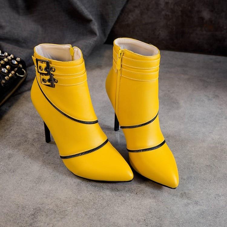 Grande taille 9 10 19 bottes femmes chaussures bottines pour femmes dames bottes fermoir talon