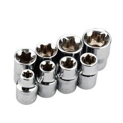 8 sztuk 3/8 Cal Torx Star zestaw gniazd E typ E8 E10 E11 E12 E14 E16 E18 E20 narzędzia do napraw ręcznych