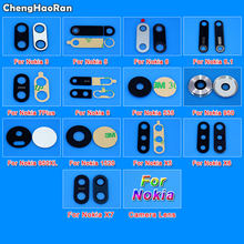 ChengHaoRan Rear Back Camera Glass Lens Cover For Nokia 3 5 6 6.1 7 Plus 8 X5 X6 X7 Lumia 535 950 XL 1520 with Ahesive Sticker(China)