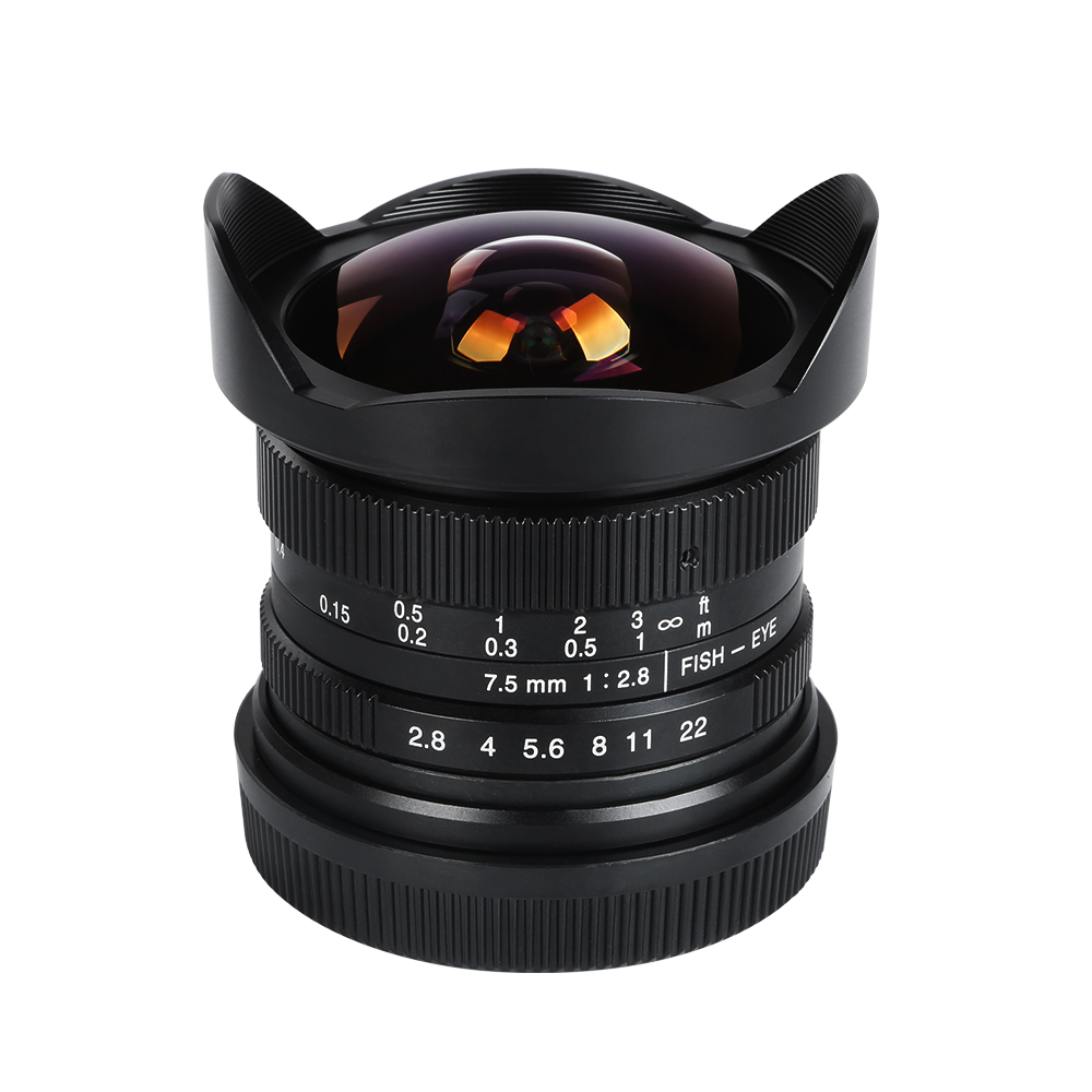 Viltrox 7.5mm F/2.8 Wide Angle Camera Fisheye Lens 180 Degree for Olympus Micro 4/3 camera , E-M1 II,E-M5,E-M5 II,E-M10,E-M10 II