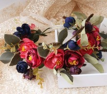 Spring Flower Wreath Head Crown