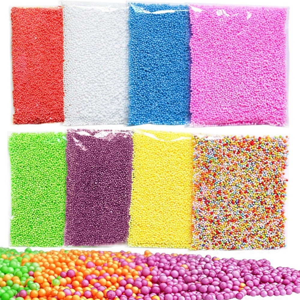 2.5-3.5mm 12000pcs Colorful Styrofoam Balls Mini Foam Balls Decorative Ball DIY Craft Supplies DIY TOYS BEAD TOYS Wholesale