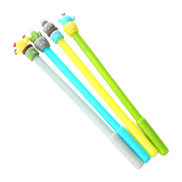 Promoción de ventas Cactus maceta bolígrafos estudiante bola tinta pluma escuela Oficina suministros aprendizaje papelería al por mayor