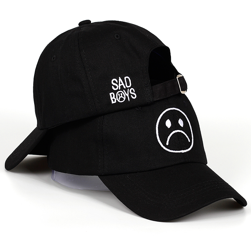 Sad Boy Baseball Cap Fashion Dad Hat Crying Face Cotton Hat Hip Hop Caps Headwear Black Harajuku Skateboard Hats Casual Cap