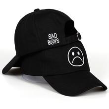 Sad Boy baseball cap fashion dad hat crying face cotton