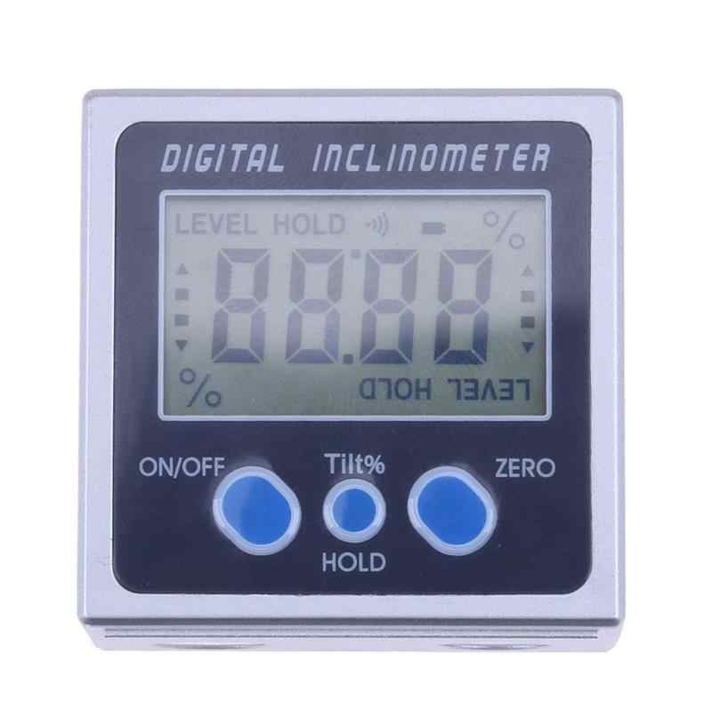 Electron Goniometers Electronic Protractor Digital Inclinometer Level Box 360 Degrees Magnetic Level Measuring Tool Angle Meter