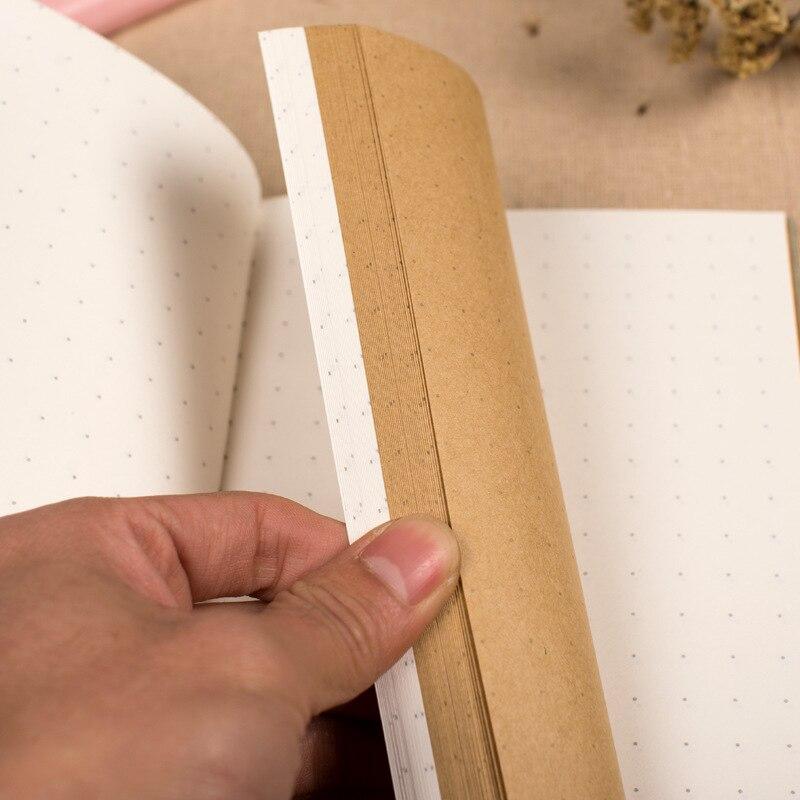 Kožená brašna Kraft Paper A5 Dárková krabička Cute Dotted - Bloky a záznamní knihy - Fotografie 3