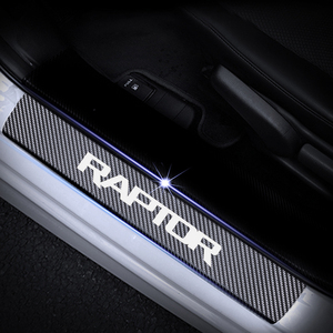 Image 4 - ประตูสำหรับFord RAPTOR F 150 คาร์บอนไฟเบอร์ไวนิลสติกเกอร์รถประตูยินดีต้อนรับสติ๊กเกอร์อุปกรณ์เสริม 4pcs