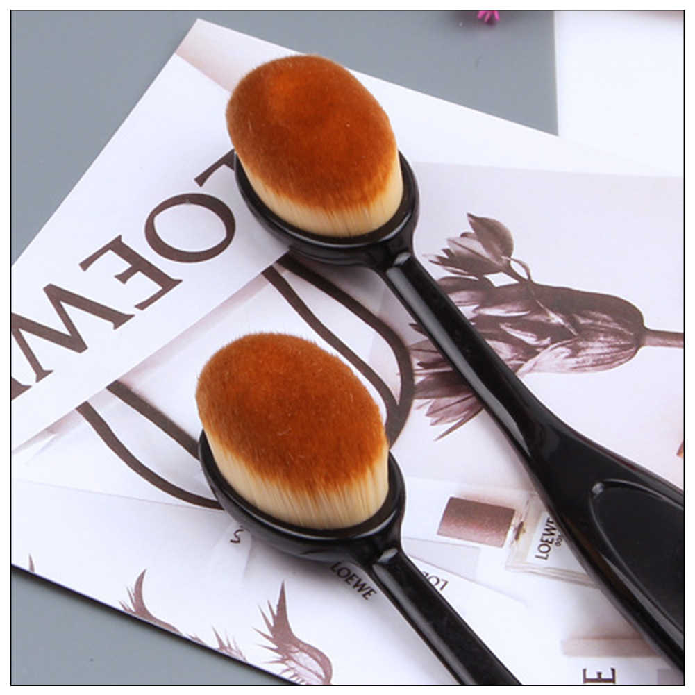 2019 Hot Make Borstels Ovale Cosmetische Make-Up Tandenborstel Pro Blush Gezicht Powder Foundation Brush Make-Up Tool