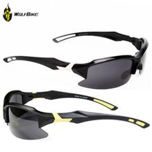 WOLFBIKE Men Polarized Cycling Glasses Outdoor Sports Bicycle Glasses Bike Sunglasses Goggles Cycling Motorcycle Eyewear 5 Lens