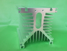 Y shape 150*125*135mm Aluminum Single Phase Solid State Relay SSR Heat Sink for less than 300A цена