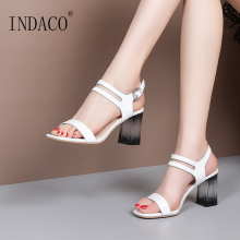 Sandals Women Summer Shoes Footwear Patent Leather Open Toe Thick Heel